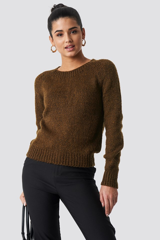 Fitted Knitted Sweater Trendyol
