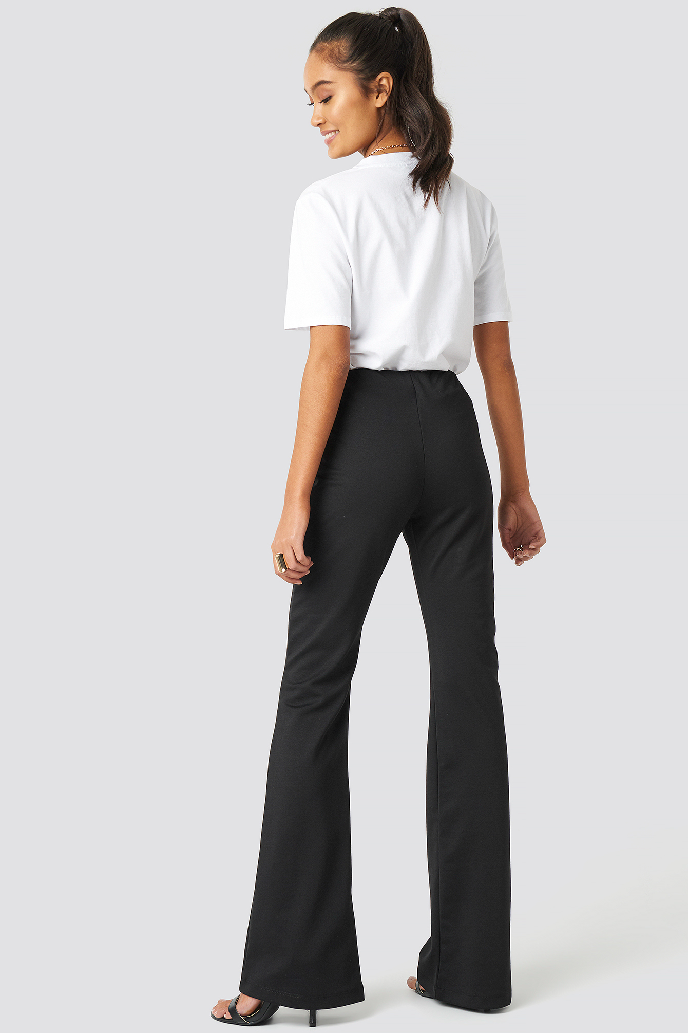 Flare Hem Knitted Trousers NA-KD.COM