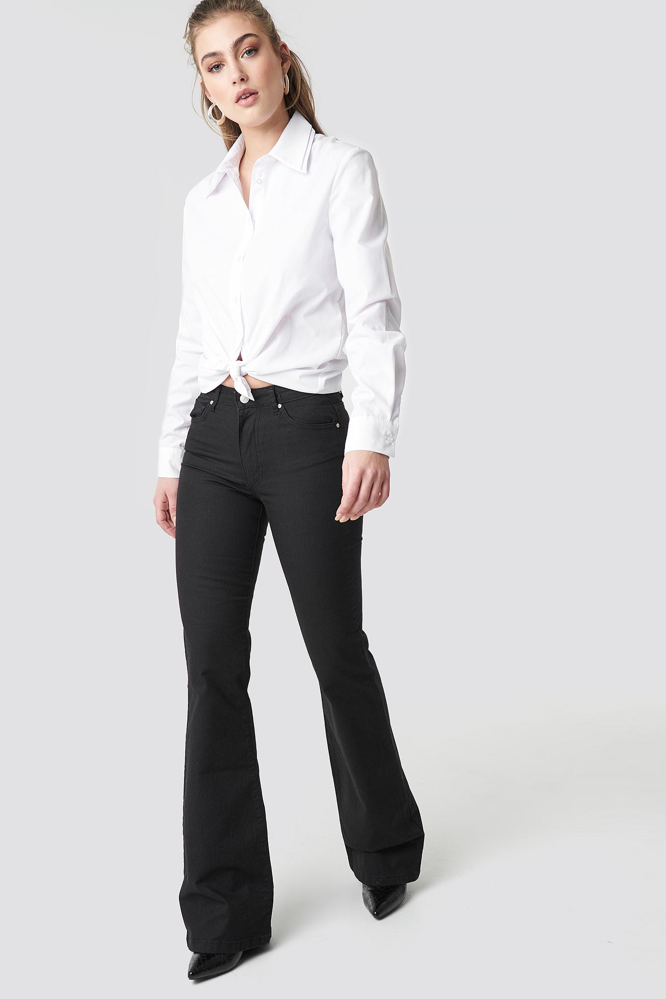 Flared High Waist Jeans NA-KD.COM
