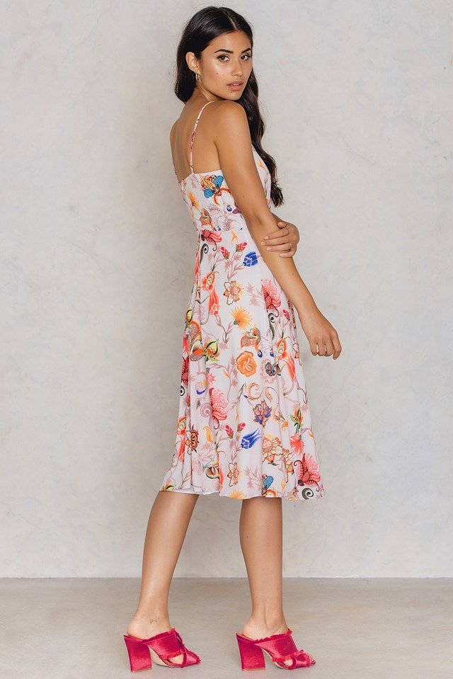 Floral Frill Dress Multi