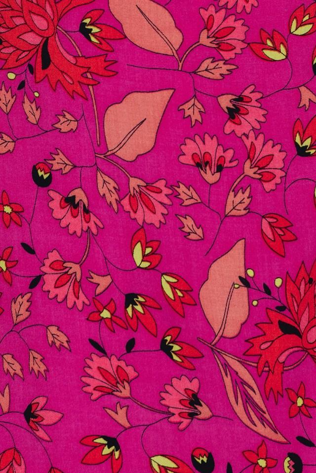 Floral Overlap Dress Pink