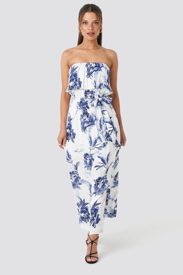 Floral Patterned Dress White