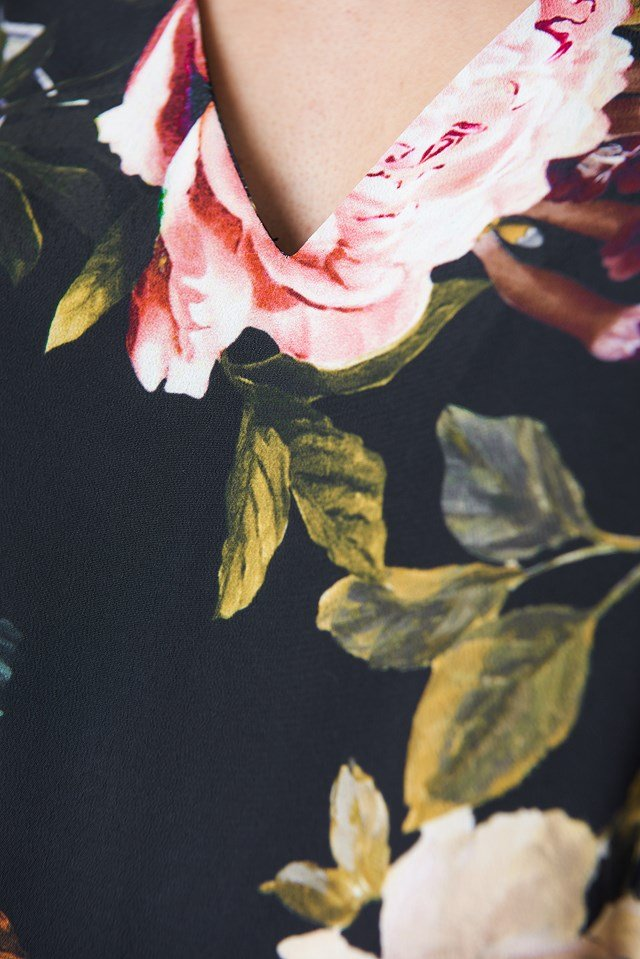 Floral Printed Jumpsuit Multicolor