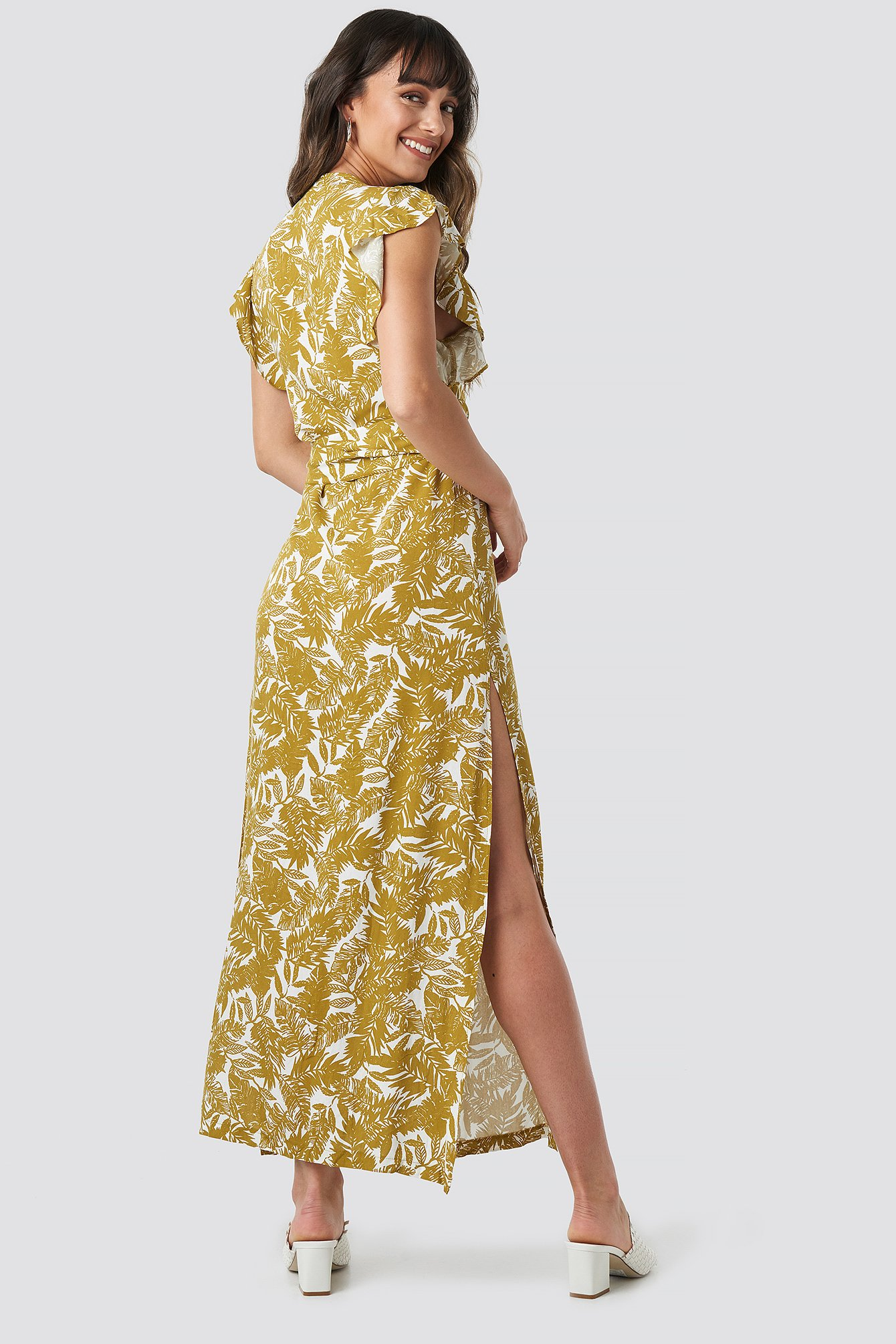 Flower Double Breasted Maxi Dress NA-KD.COM