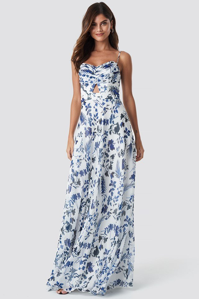 Flower Pattern Maxi Dress NA-KD.COM