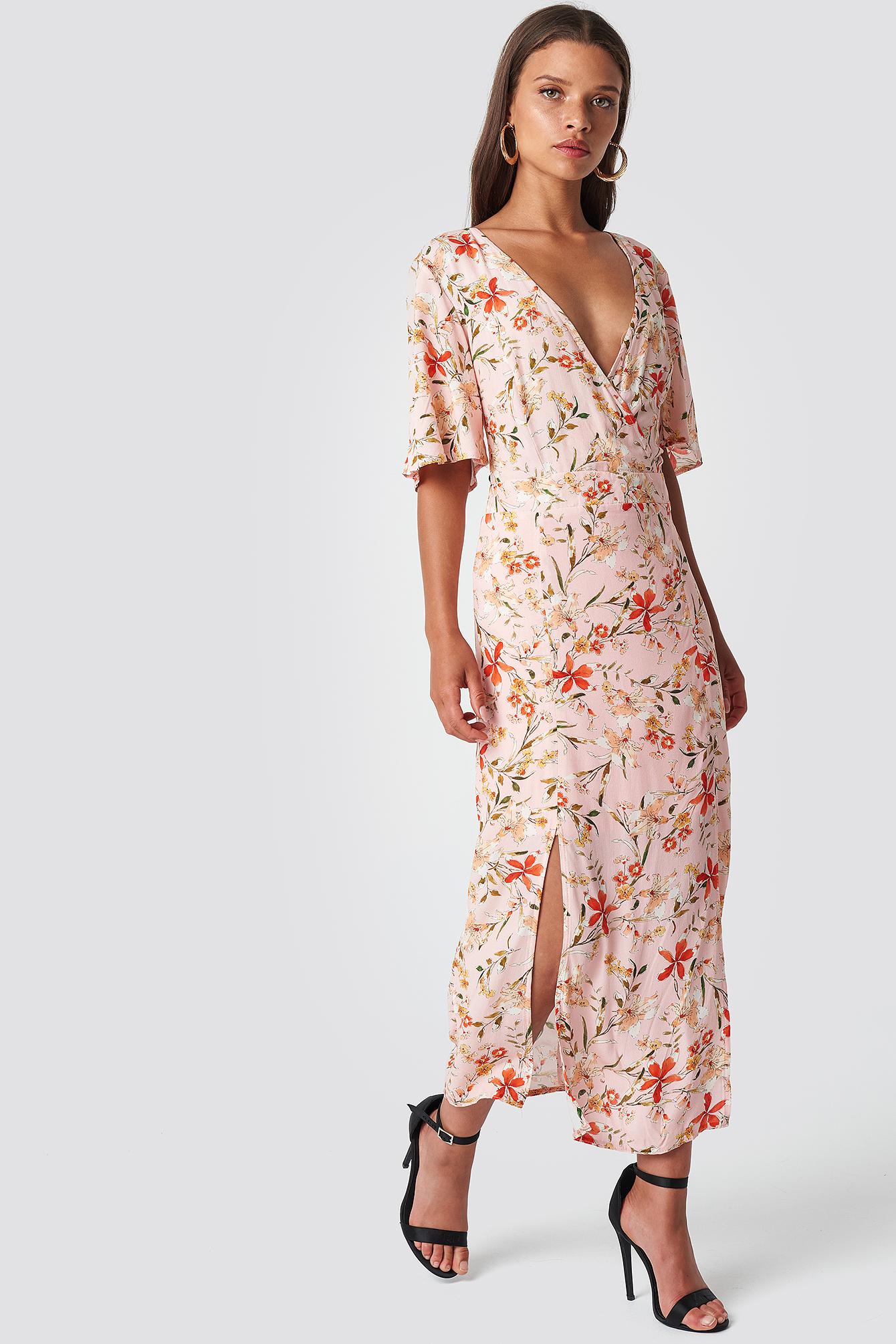 TRENDYOL FLOWER PATTERNED CRUISE DRESS - PINK, MULTICOLOR
