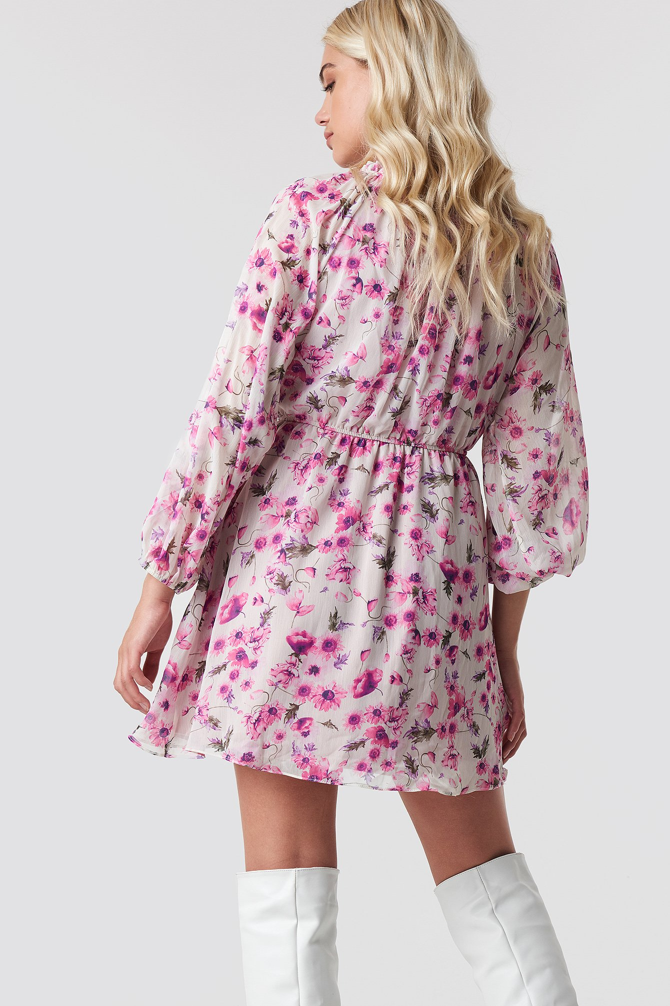 Flower Print Mini Dress NA-KD.COM