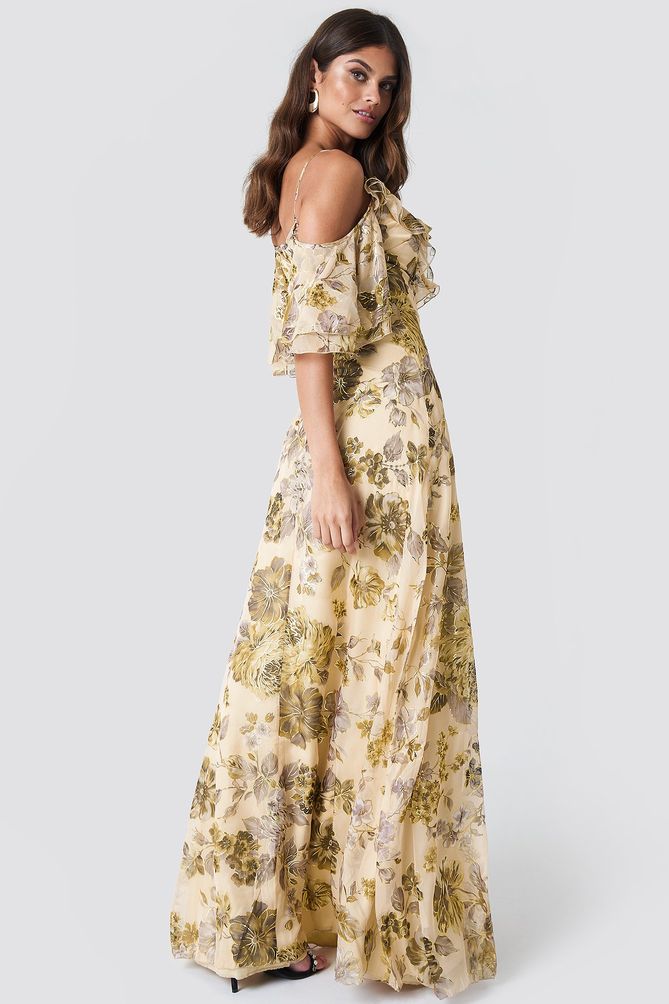 Flower Printed Maxi Dress NA-KD.COM
