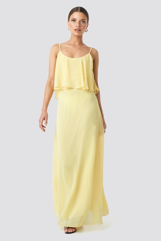 Flywheel Long Dress Yellow