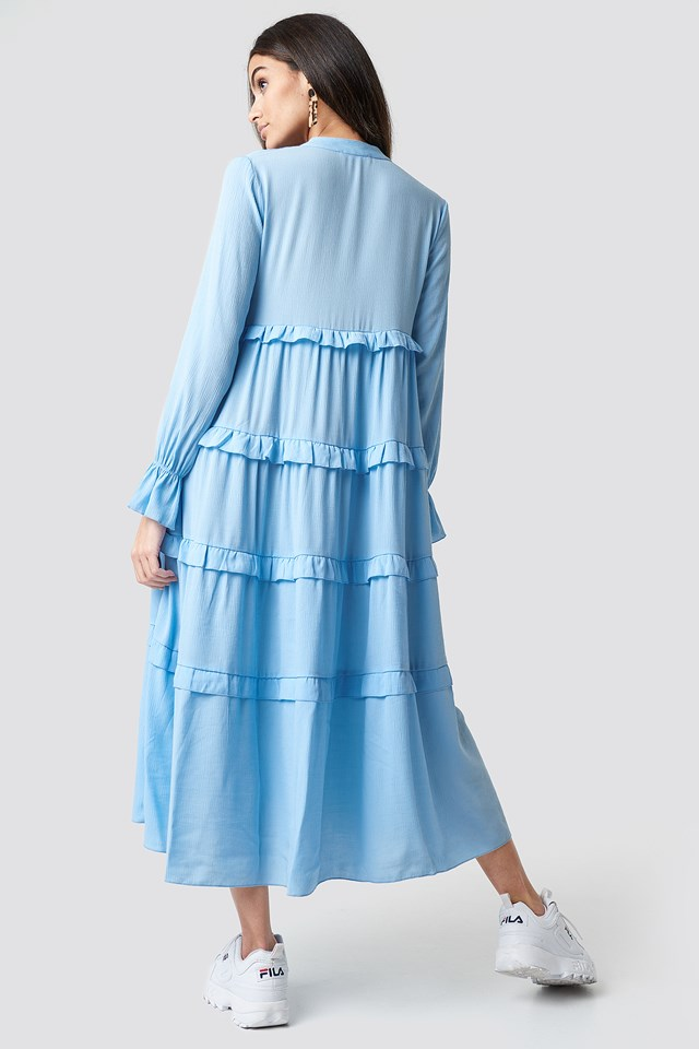 Flywheel Maxi Dress Blue