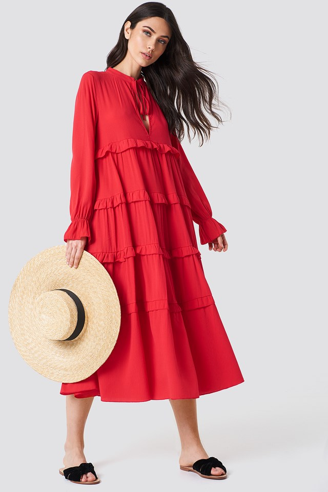 Flywheel Maxi Dress Coral