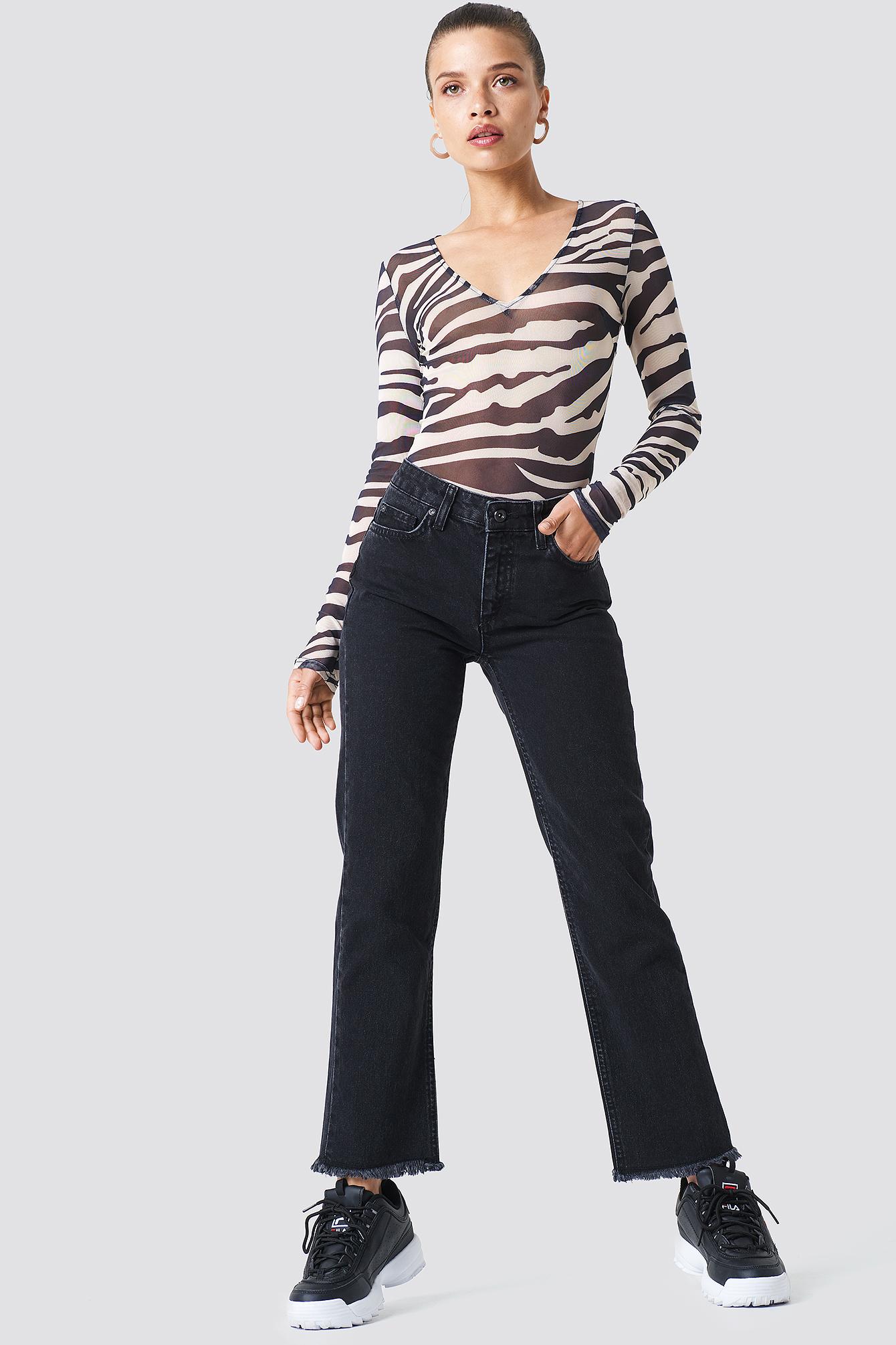 Frayed Hem Jeans NA-KD.COM
