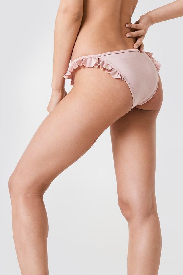 Frill Bikini Bottom Dusty Rose