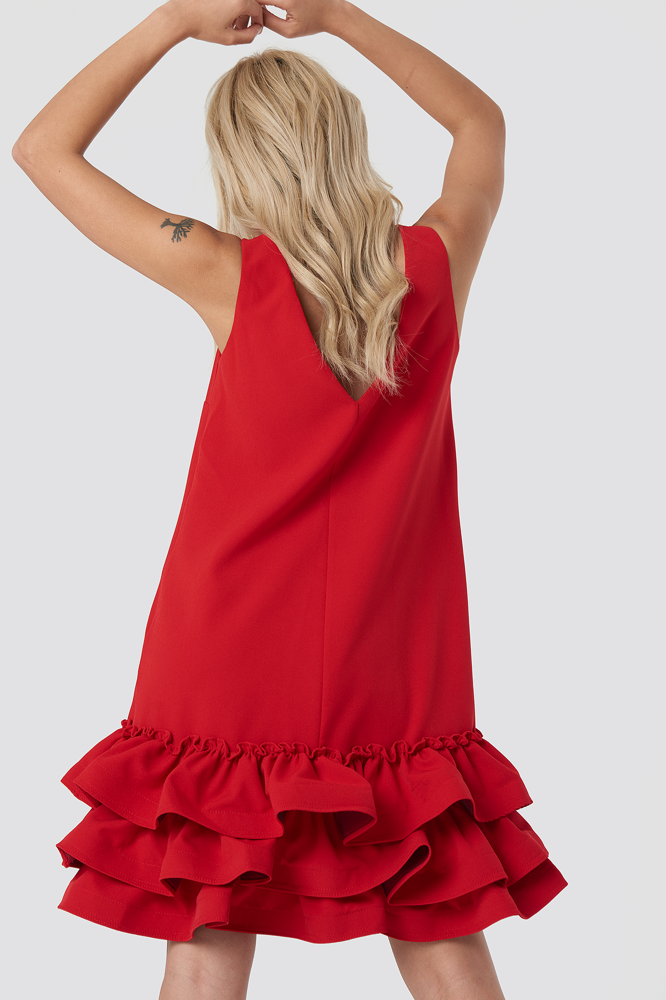 Frill Bottom Mini Dress NA-KD.COM