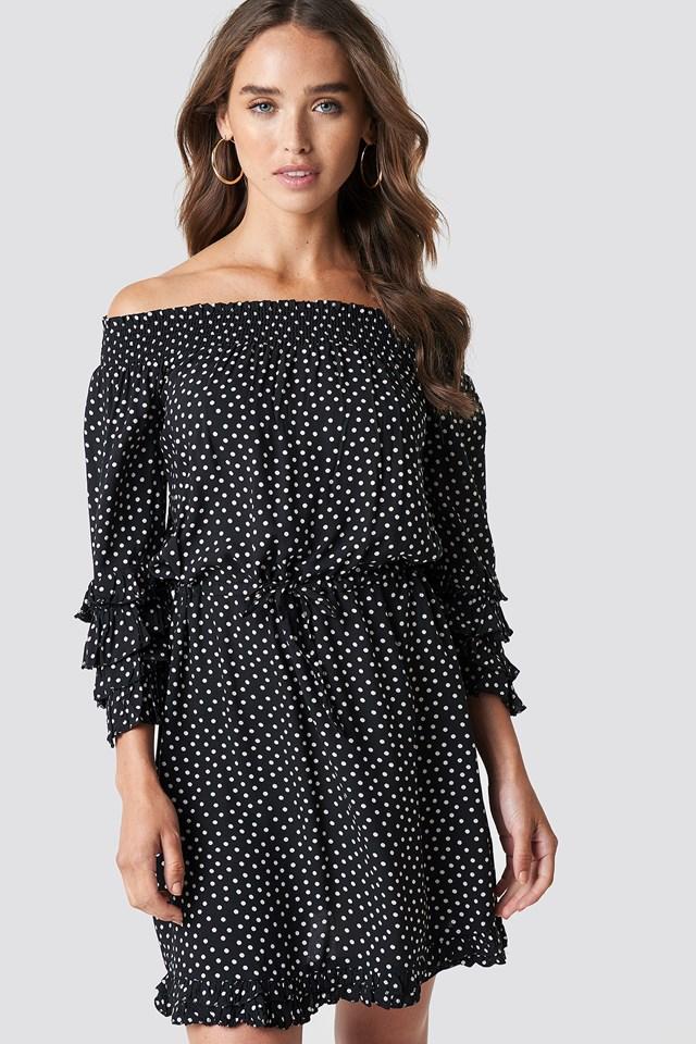 Frill Dotted Mini Dress NA-KD.COM