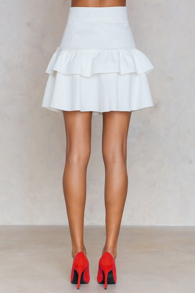 Frill Layer Skirt White