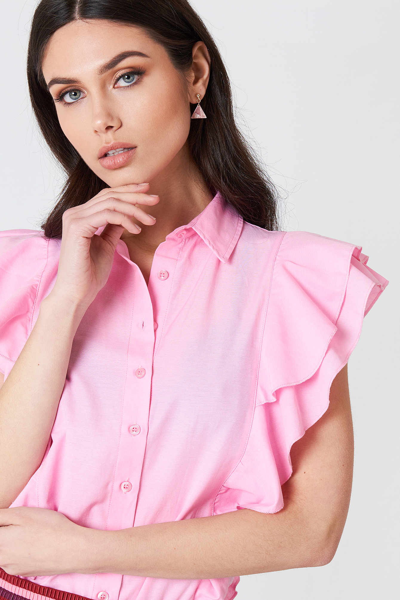 Frill Shirt Top NA-KD.COM