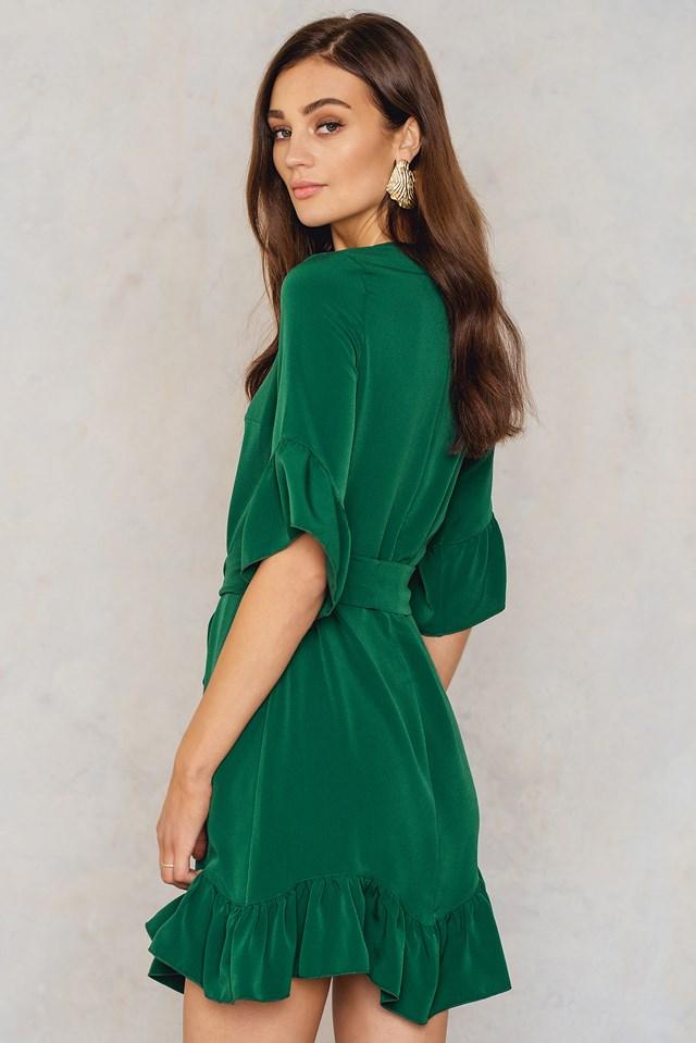 Frill Tie Waist Dress NA-KD.COM