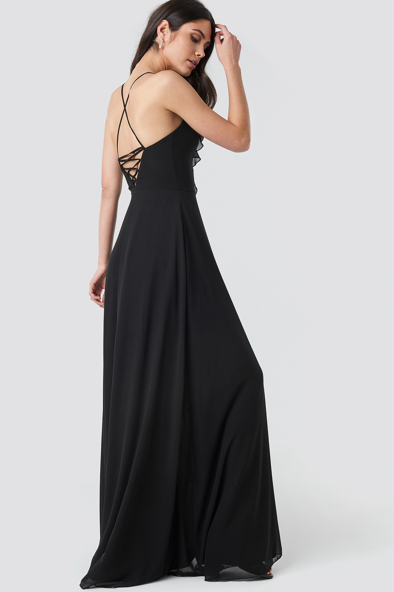 Frilly Evening Dress Gown NA-KD.COM