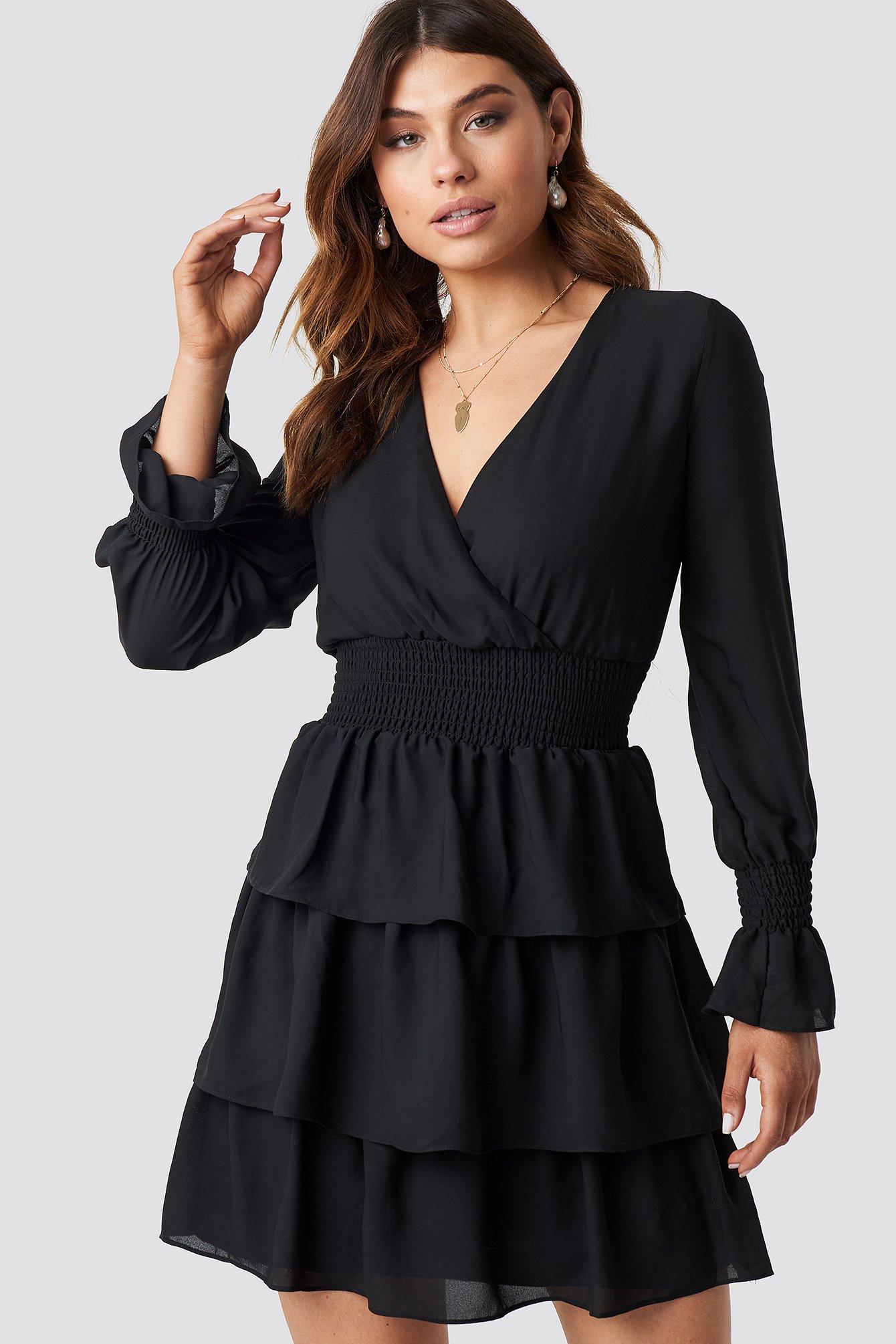 Frilly Midi Dress NA-KD.COM