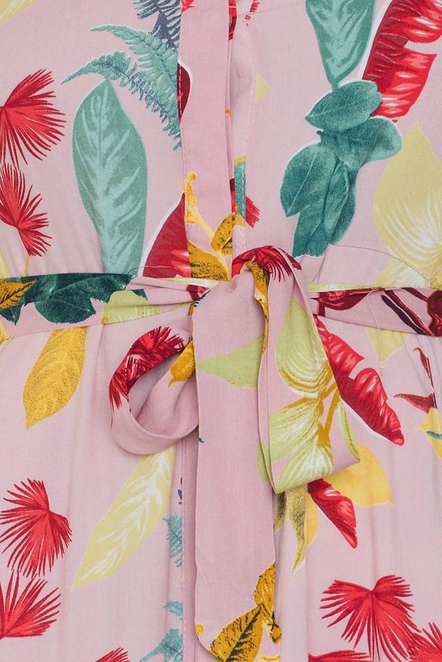 Floral Shirt Dress Powder Pink