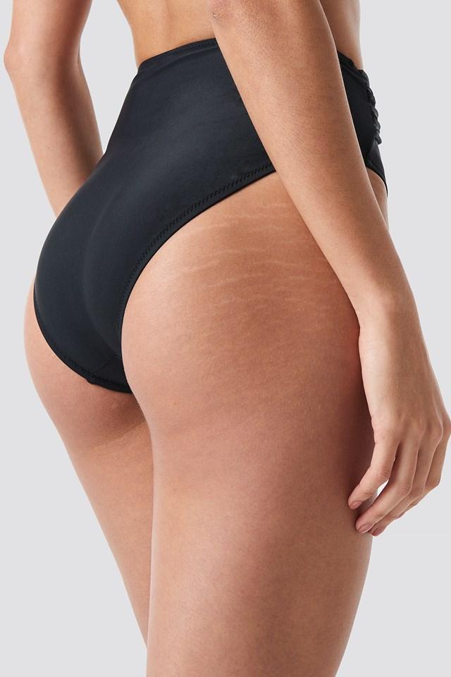 Front Brace Bikini Bottom Black