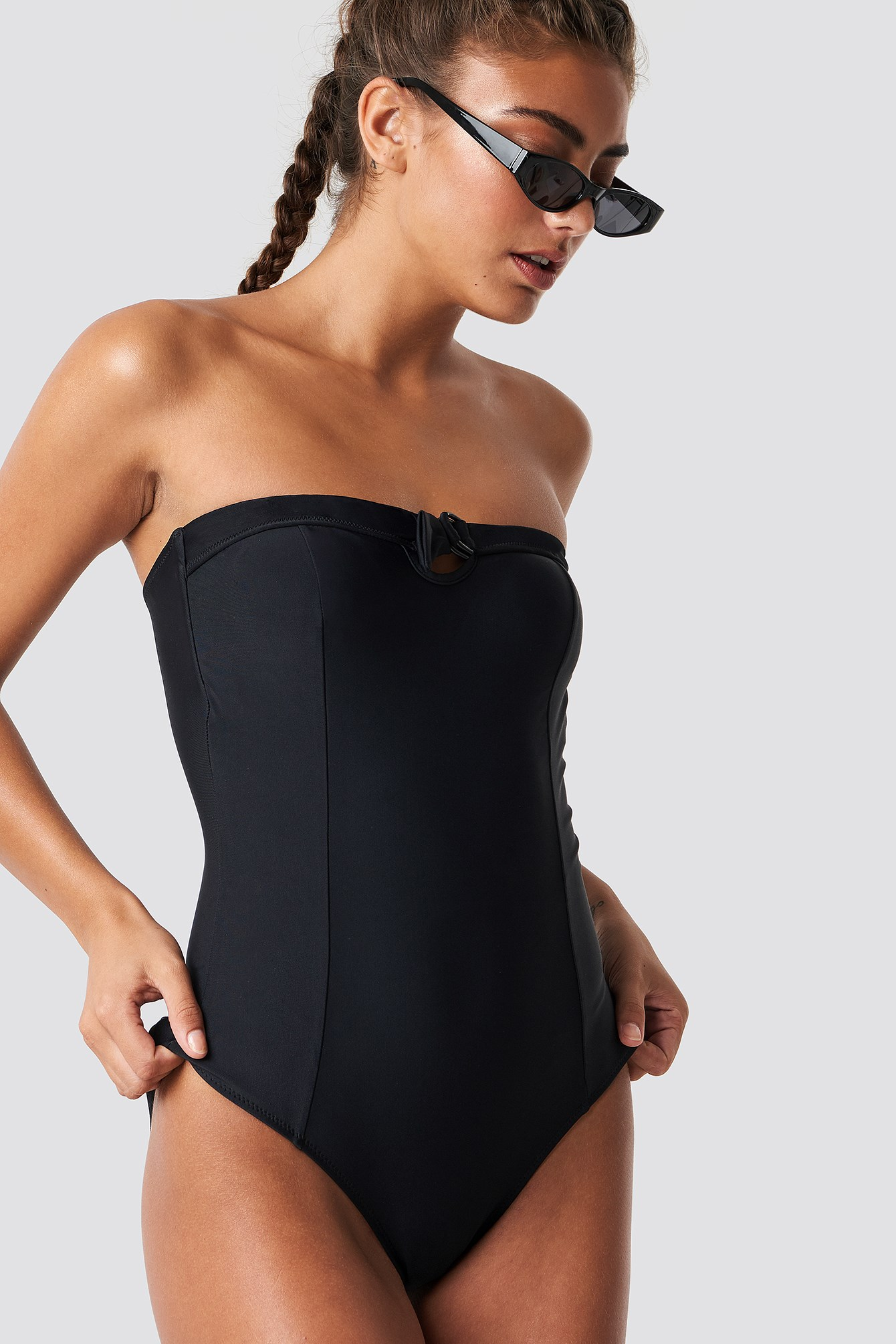 Front Buckle Swimsuit NA-KD.COM