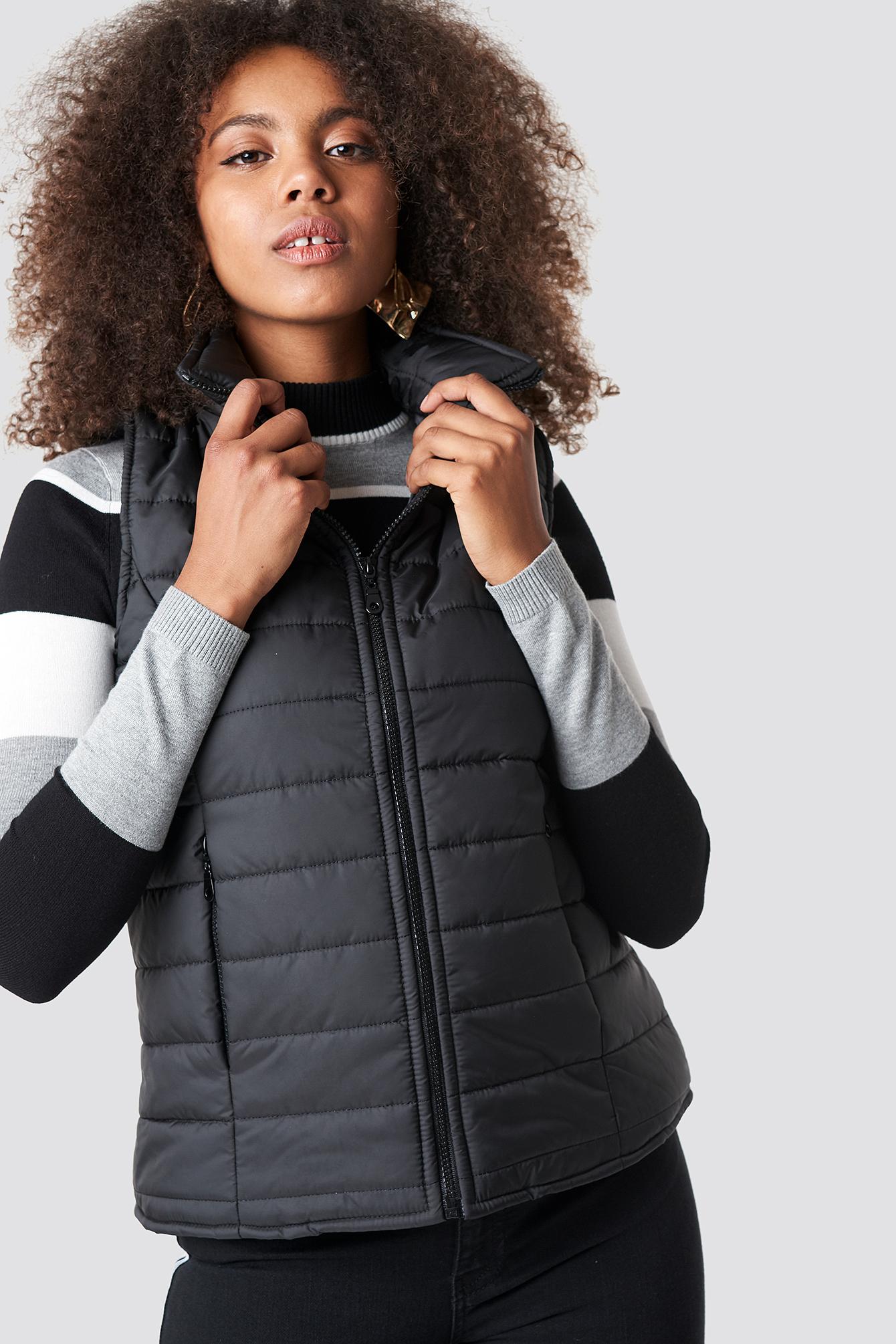 TRENDYOL Front Pocket Vest - Black