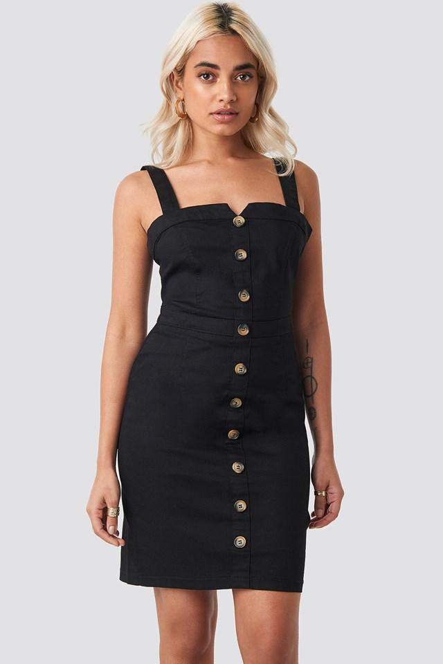 Gabardian Mini Dress Black
