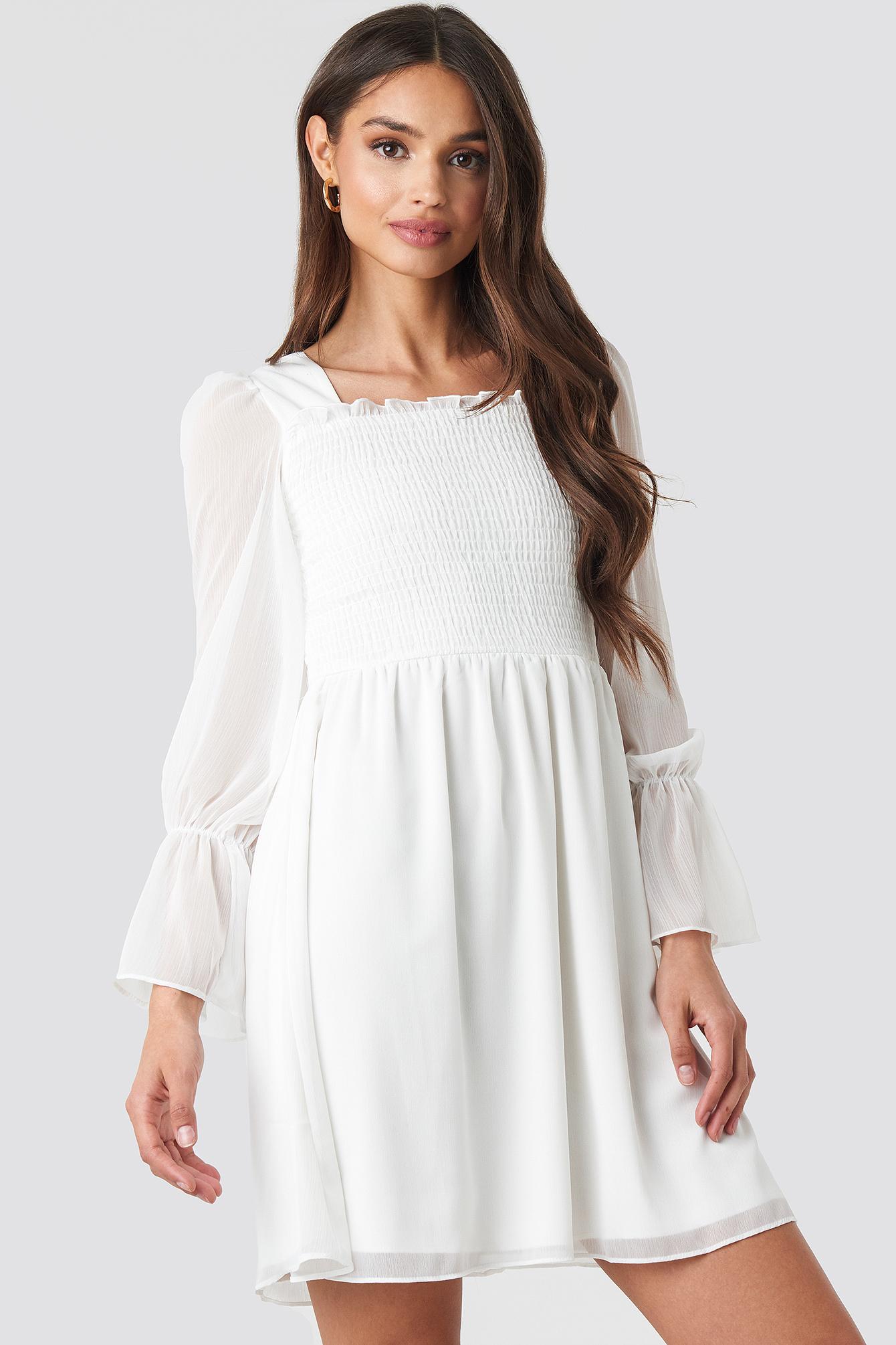 574d63d30 Giped Mini Dress White | na-kd.com
