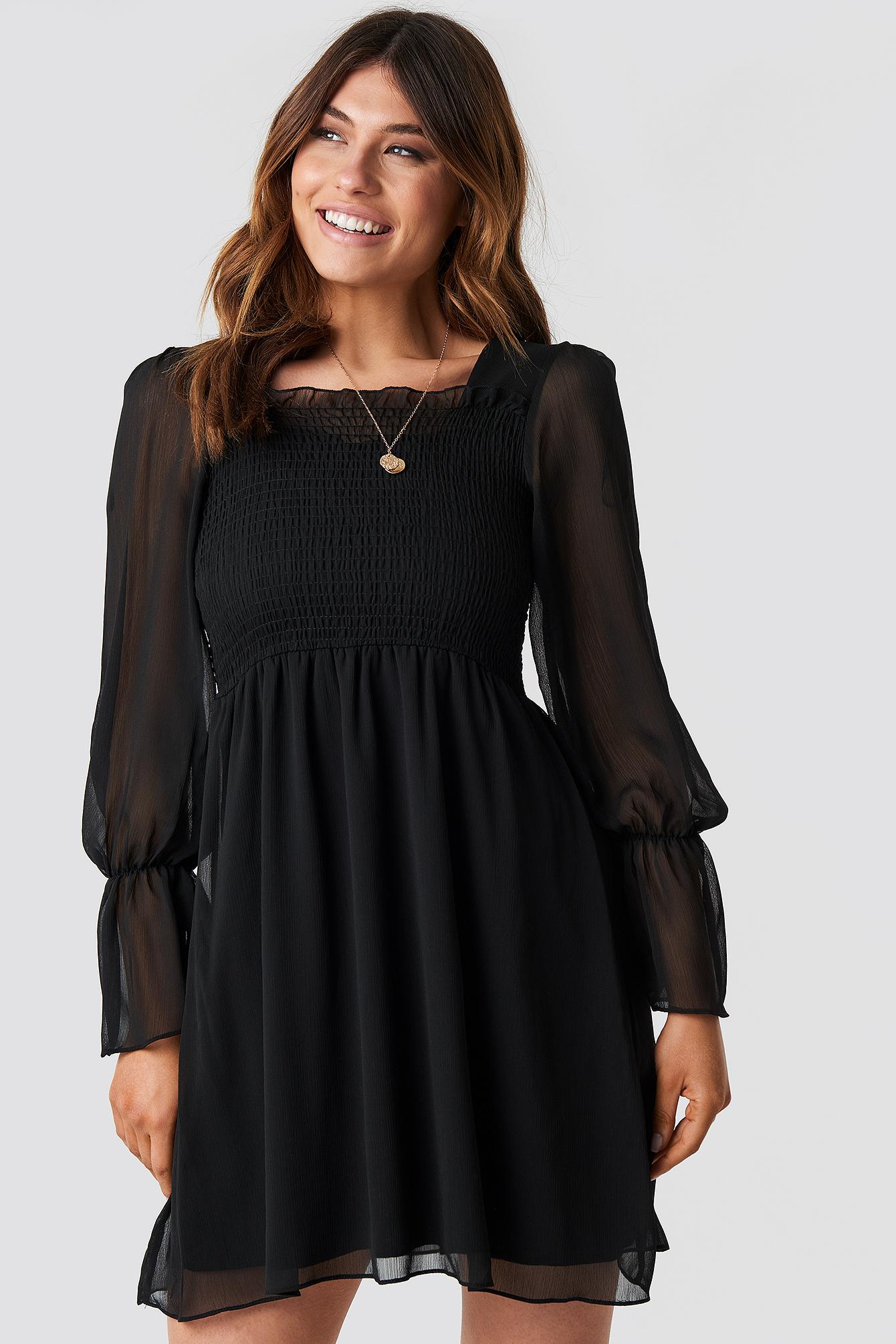 trendyol -  Giped Mini Dress - Black