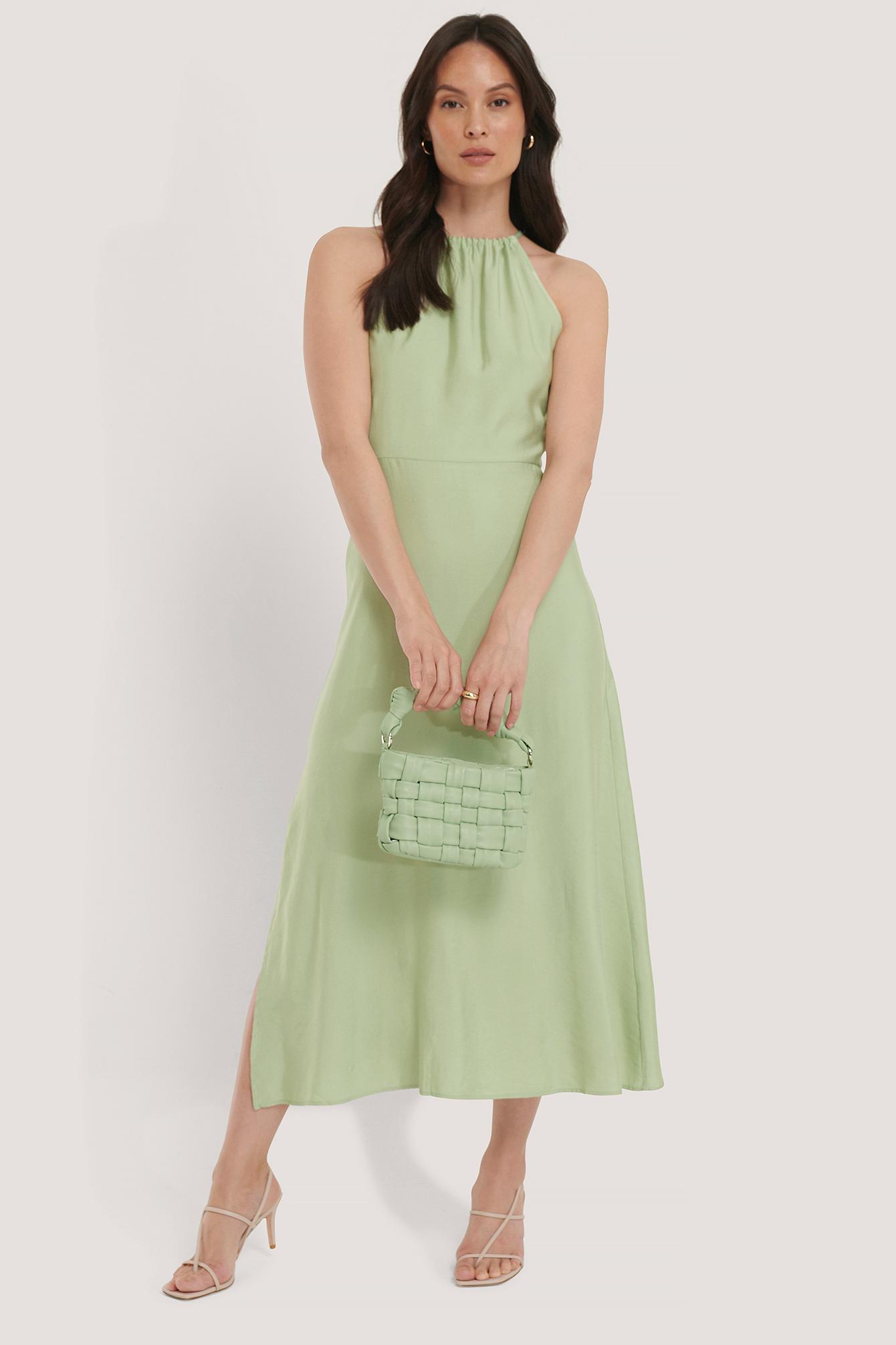 trendyol -  Nackenhalter-Kleid - Green