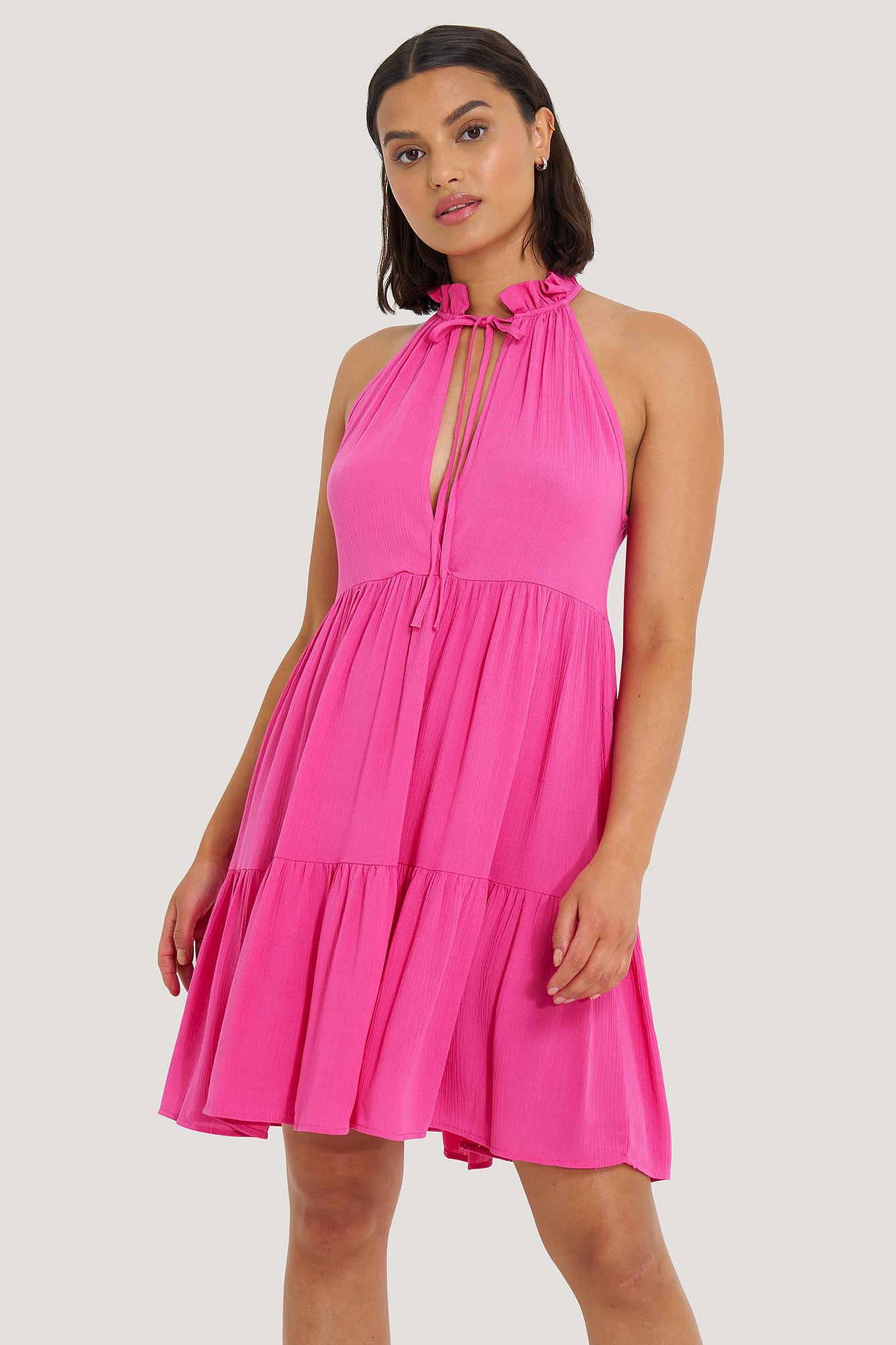 trendyol -  Nackenhalter-Kleid - Pink