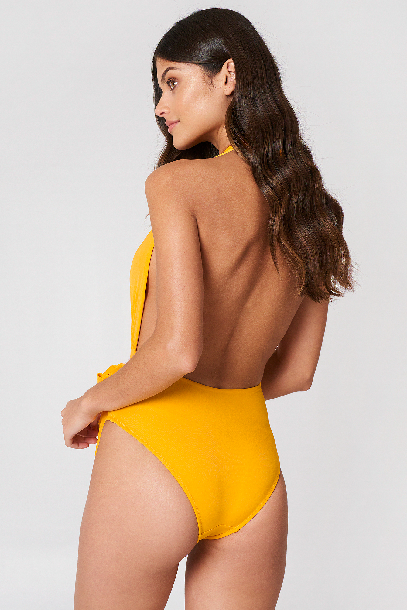 Halter Wrap Swimsuit NA-KD.COM