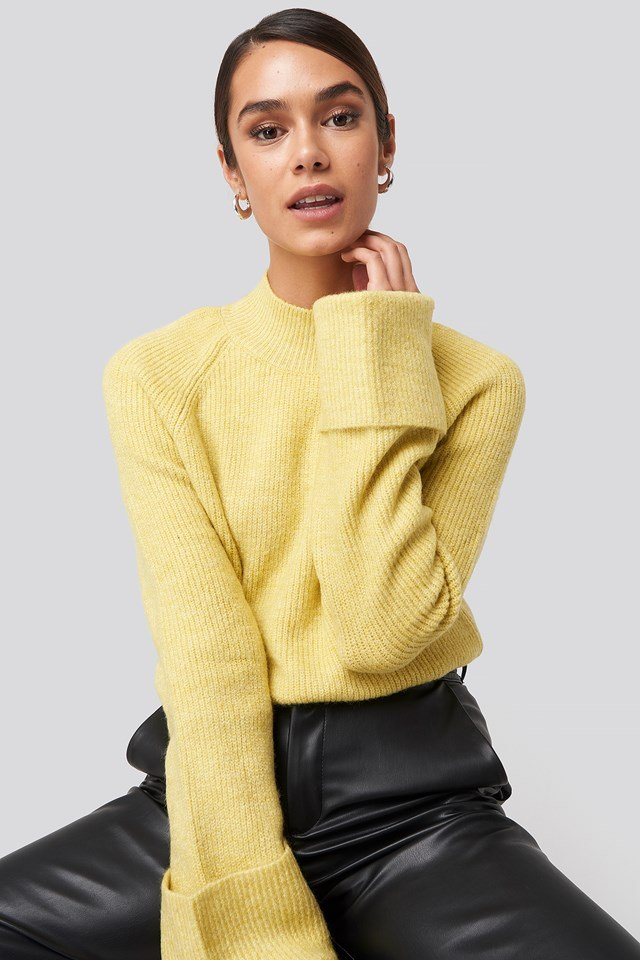 Handle Curved Knitted Sweater Trendyol