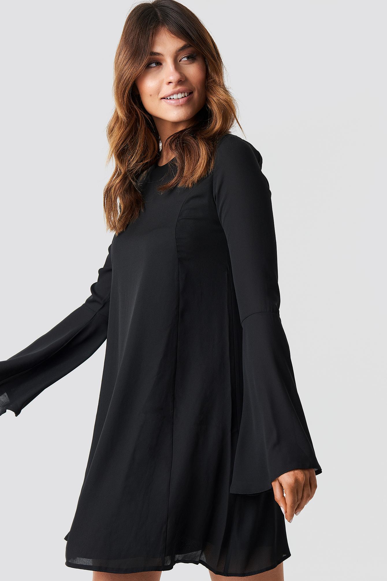 trendyol -  Handles Flywheel Mini Dress - Black