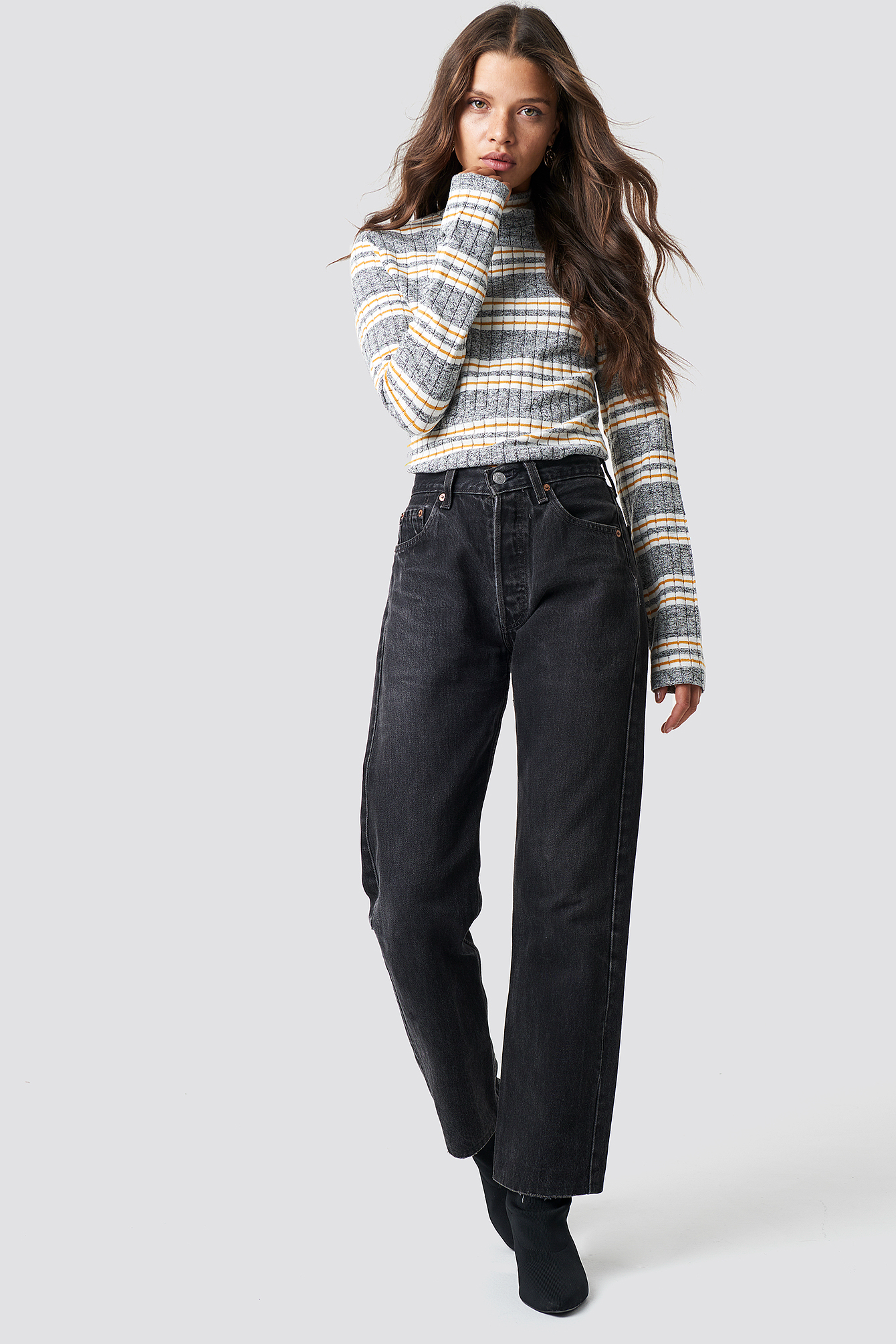 High Collar Knitted Jumper NA-KD.COM