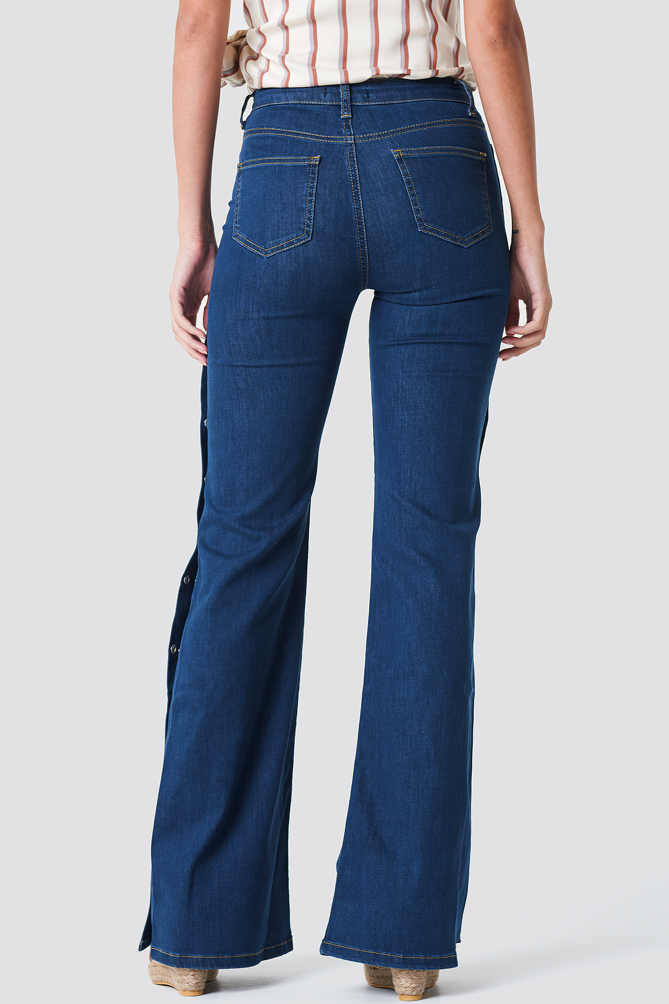 Blue High Flared Jeans