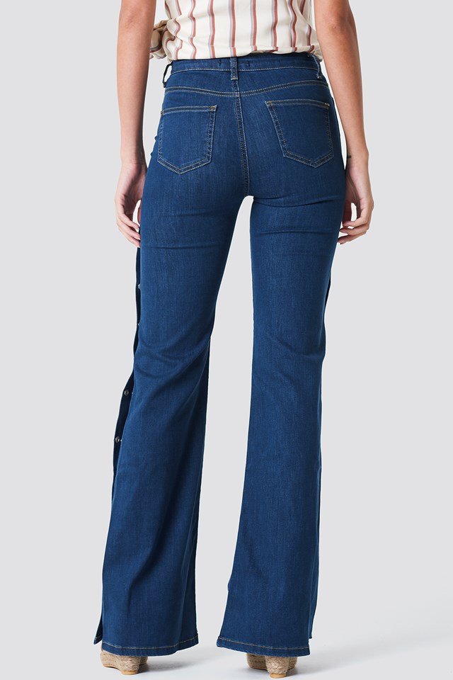 High Flared Jeans Blue