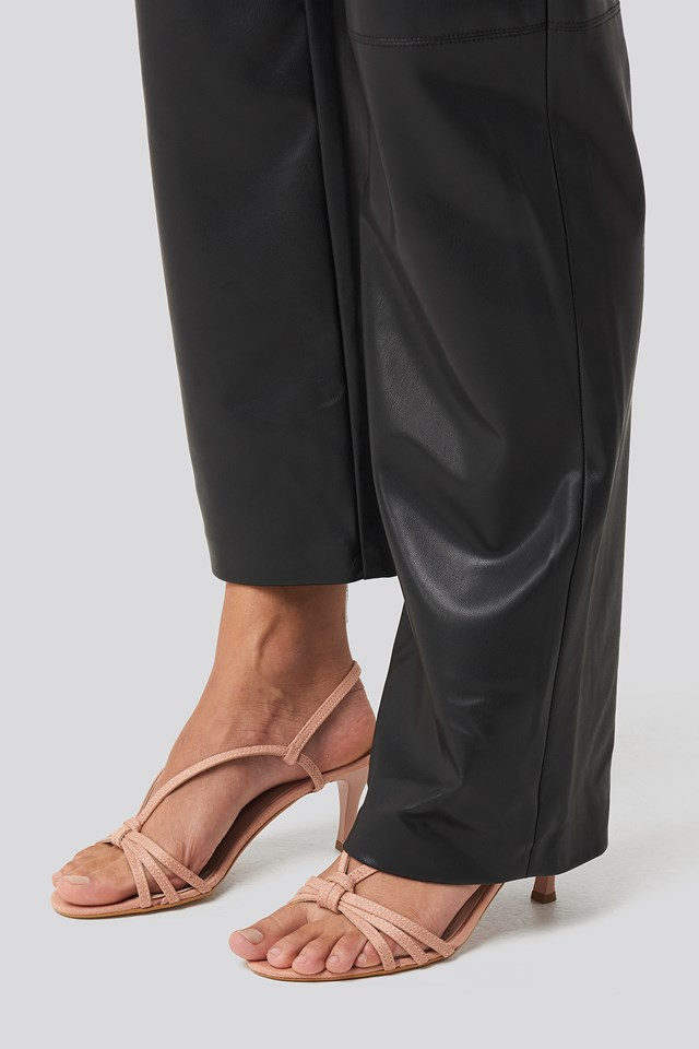 High Heel Strap Sandal Powder Pink