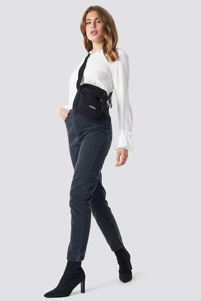 High Mom Jeans Black