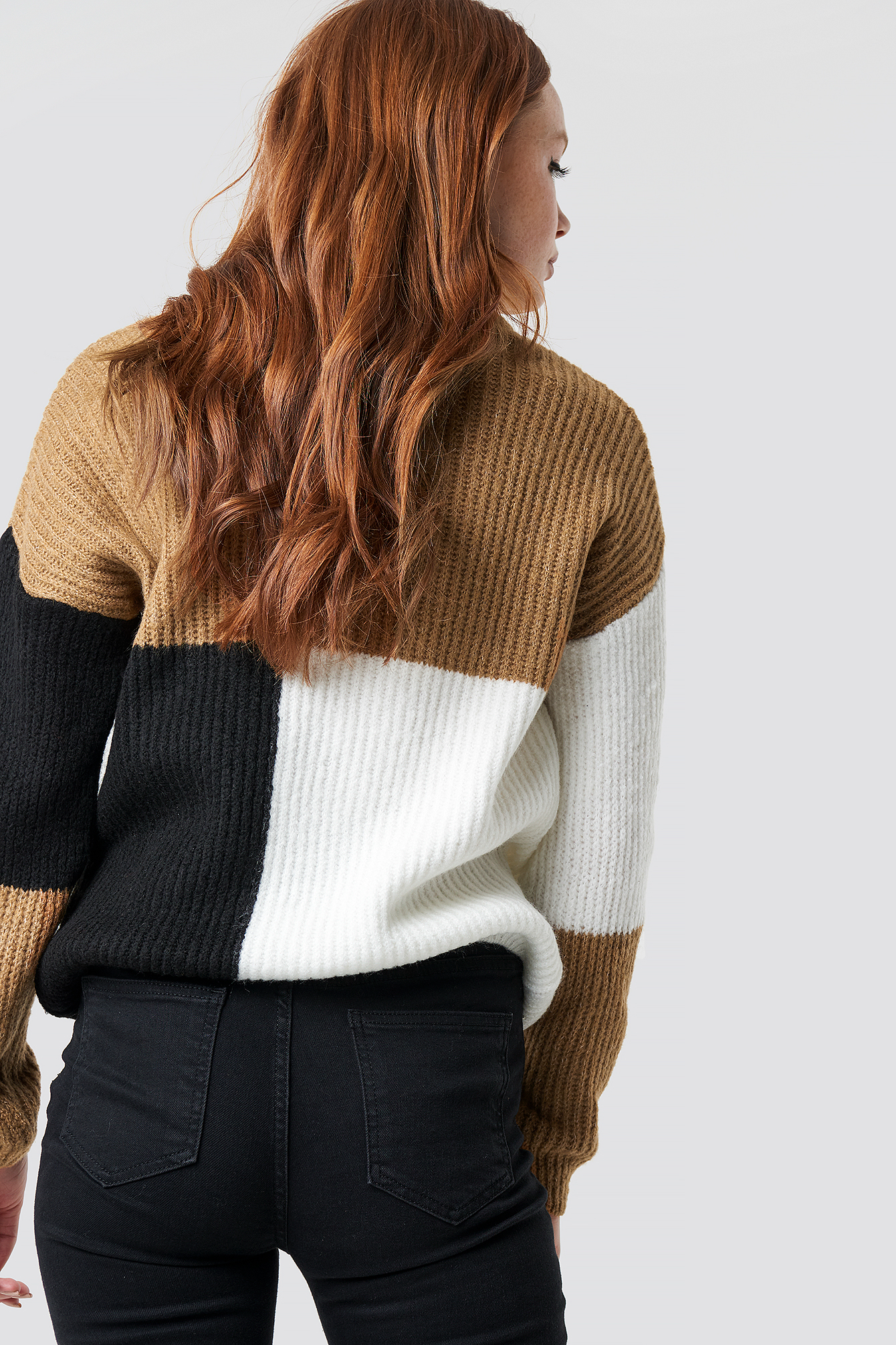 High Neck Color Block Sweater NA-KD.COM