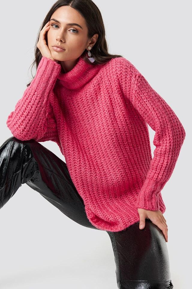 High Neck Polo Sweater NA-KD.COM