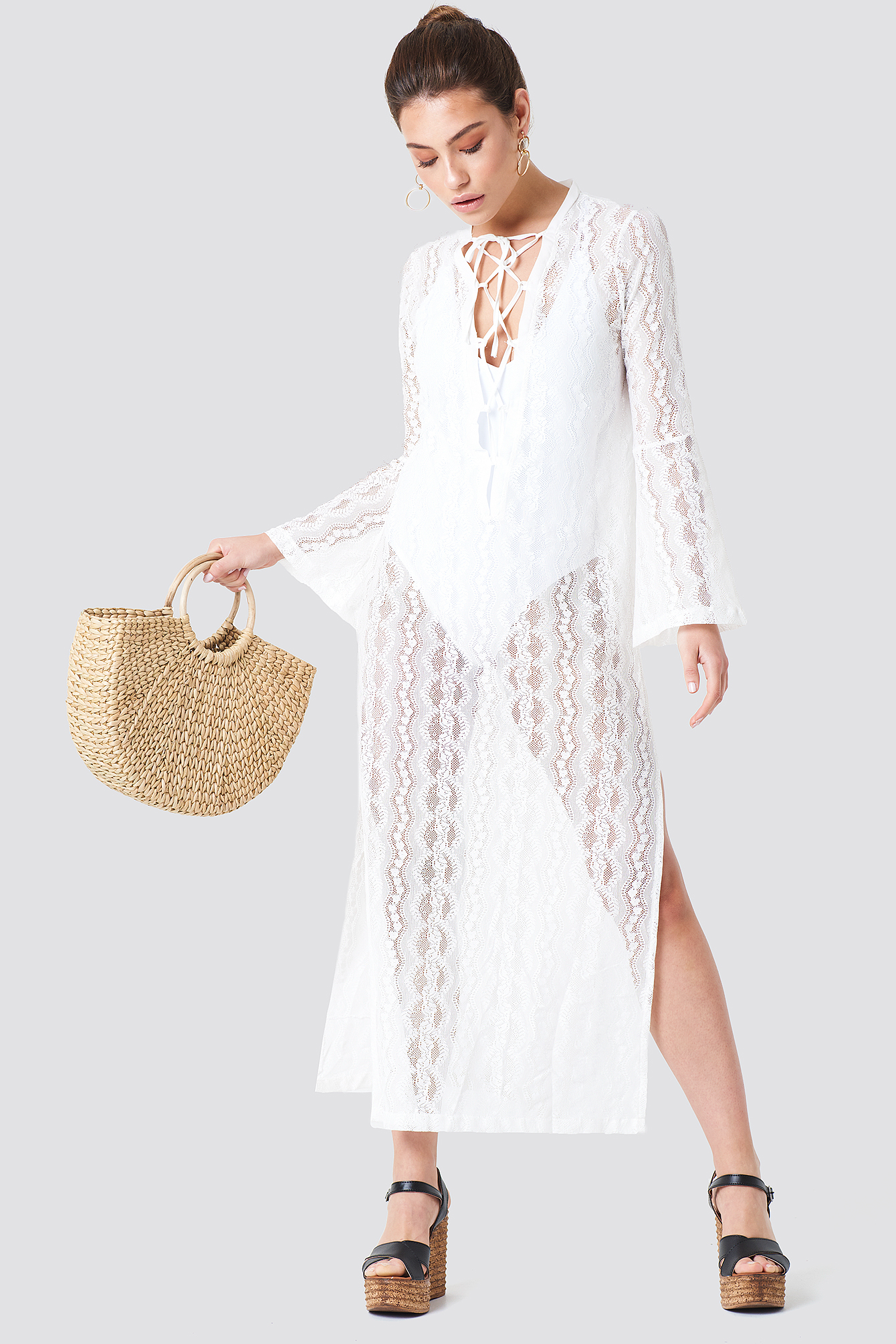 High Slit Beach Caftan NA-KD.COM