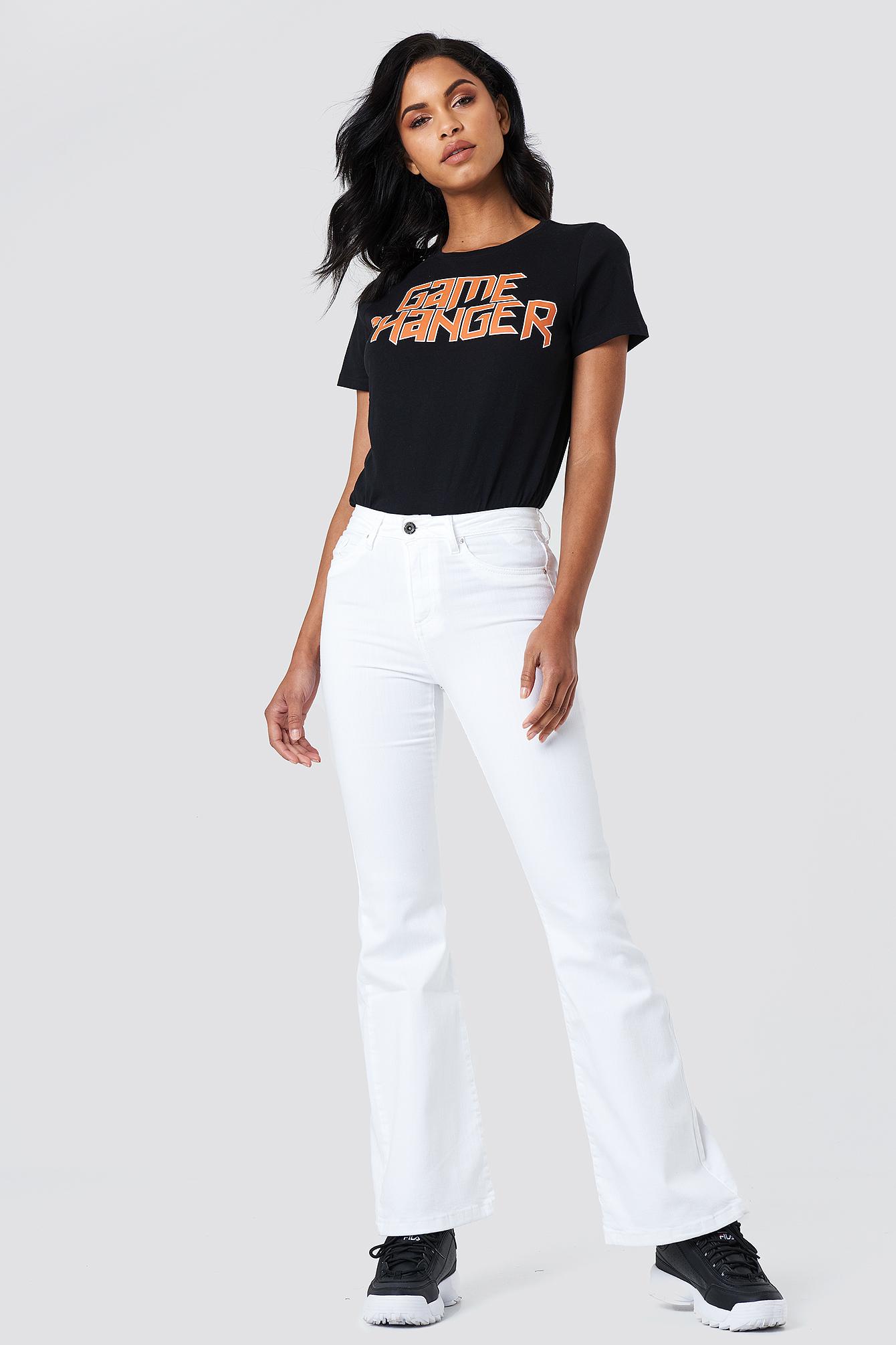 Rozszerzane jeansy z wysokim stanem NA-KD.COM