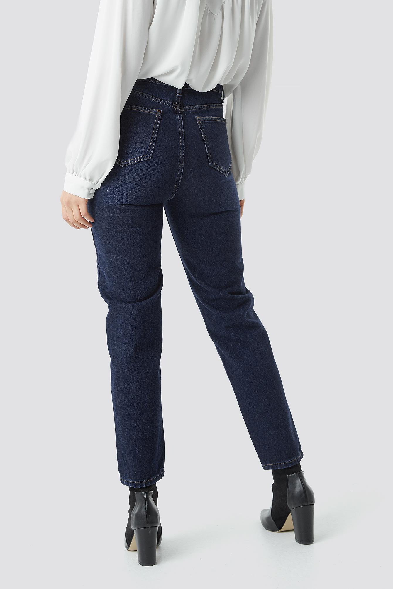 High Waist Mom Jeans NA-KD.COM