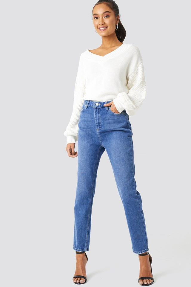 High Waist Mom Jeans Indigo