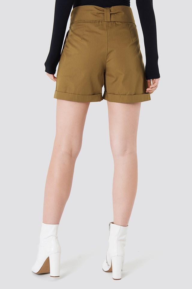 Highwaist Safari Shorts Mustard