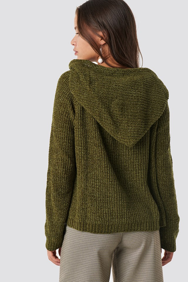 Hooded Schenille Sweater NA-KD.COM