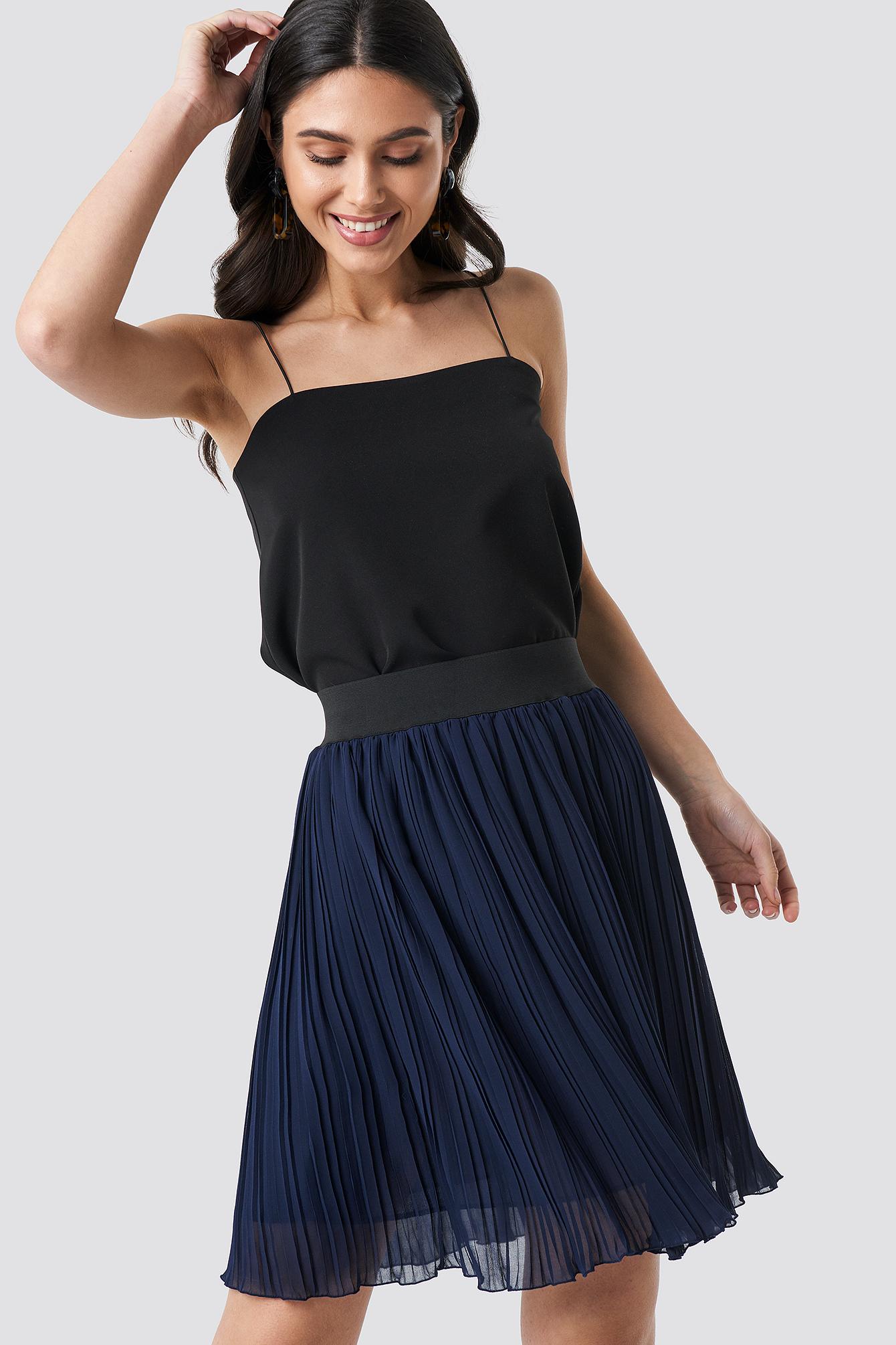 Indigo Pleated Skirt NA-KD.COM